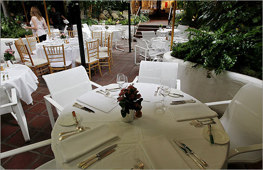 A table at Michael's restaurant, where Bulger and Greig often dined.