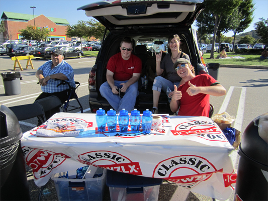 The WZLX had a vehicle of their own set up, offering free water bottles and other swag to any attendees who wandered over.