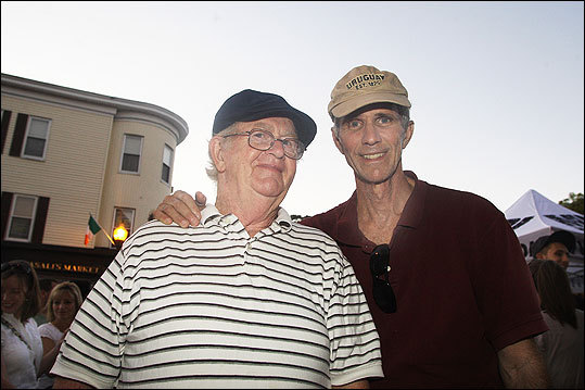 Oct. 9 in Dorchester Tom Clifford (left) of Hyde Park and Rich Rosenthal of Jamaica Plain.