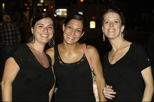 Oct. 9 in Dorchester From left: Michelle Malloy of Milton, Lauren Calabraro of Quincy, and Jen Shea of Dorchester.
