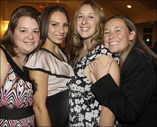 Oct. 6 in Quincy More than 300 guests attended the Raising the Stakes Casino Night for Quincy Community Action Programs held at Granite Links Golf Club. The event raised $85,000. From left: Caitlyn Bollen of Quincy, Nicole Gonzalez of Quincy, Jacquelyn Daley of Weymouth, and Noreen Fredholm of Braintree. For more on these photos visit www.billbrett.com