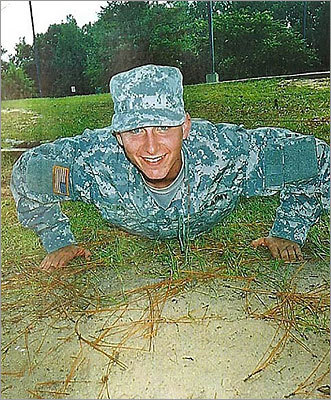 Kevin J. King, 19, died in an accident during an Army training exercise in Fort Campbell, Kentucky, in 2007, a few months before he was scheduled to be deployed to Iraq. He was a graduate of Plymouth South High School. Pictured, King during basic training at Ft. Benning, GA in September, 2006.