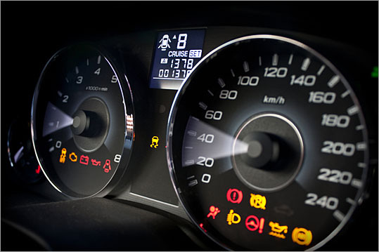 Inaccurate speedometers A GPS is generally more accurate than the speedometer; this is the case in most cars. Although a tire size change can affect the speedometer, the cars speedometer is calibrated to allow the factory to change tire sizes. What you are seeing is typical, most vehicle manufacturers allow a couple of miles per hour plus or minus over the displayed speed. More advice from John Paul | E-MAIL Send your questions