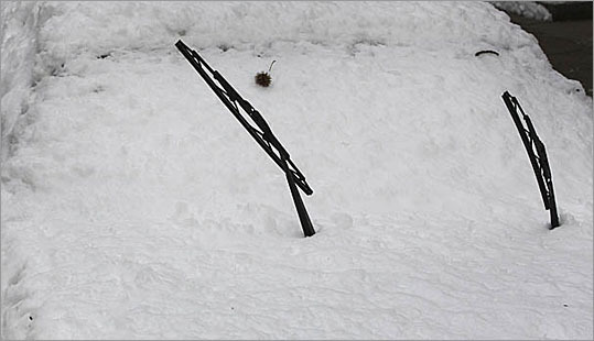 Don't put the wipers up when it snows Putting the wipers up and away from the windshield certainly makes it easier to clean the windshield if it snows. It also eliminates the chance of the wipers freezing to the windshield. My concern is that by doing this you are putting stress on the spring that holds the wiper arm against the windshield. I don't do it on my car. More advice from John Paul   E-MAIL Send your questions