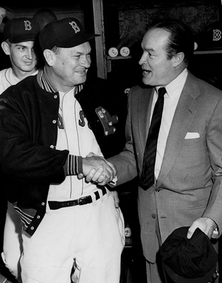 Mike 'Pinky' Higgins Years: 1963-1965 Pinky Higgins served as manager of the Red Sox in the late 1950s, overseeing several of Ted Williams's greatest seasons. But as a general manager, Higgins has the distinction of serving as general manger during the only 100-loss season for the Yawkey ownership. While the major league team struggle, the farm system was acquiring players that would contribute to the team's turnaround after Higgins's tenure. In the photo to the left, Higgins shook hands with comedian Bob Hope in the Red Sox clubhouse.