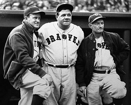 Joe Cronin Years: 1948-1958 Joe Cronin's early Red Sox teams enjoyed some success, but the club stumbled in the early 1950s. Here Cronin (left) is pictured with Babe Ruth and Braves manager Bill McKechnie. Cronin might be most notably remembered by the history books by his record of keeping Boston an all-white team and making it the last to integrate. Cronin had been following the policies set in place by his predecessor, Ed Collins , who served as general manager from 1933-1947. Collins was named to the Hall of Fame in 1939.