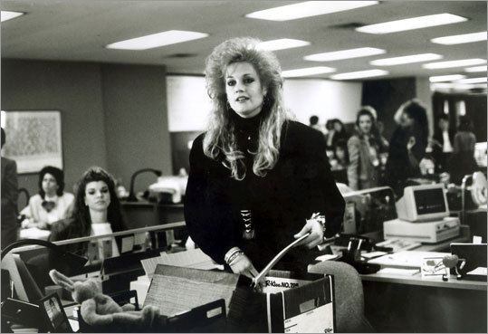 Working Girl (1988) Melanie Griffith, Harrison Ford, and Sigourney Weaver A New York secretary, Tess McGill, poses as her boss while she is on medical leave. She works with an investment broker on a big deal and is put in a tough spot when her boss recovers and returns to the office.