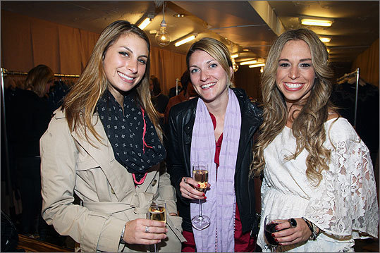 Oct. 17 in Boston From left: Marnie Maciariello of Boston, Kaitlin Milliot of Boston and Jaimie Sparks of Medford.
