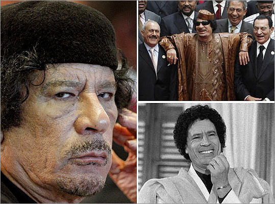 Libya's new government told the United States that deposed leader Moammar Khadafy is dead, a US official said on Thursday. Take a look at photographs of his 41-year rule of Libya.