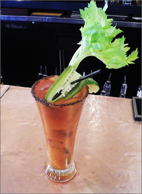 Masa The drink: This ain't your country club's Bloody Mary: among the 22 ingredients you'll find in the mix are chipotle paste, clam juice, beef bouillon cubes, and fresh onions. The details: There's a lot of flavor in this smoky drink, but the fresh veggies, garlic, and onion flavors reign supreme. 'It's big and bold,' says bartender Justin Bocenec. 'It's definitely got a punch.' The pickled jalapeno on top doesn't hurt, either. Pair it with: Tequila Cilantro Cured Salmon ($11.95) $7.50, Masa 439 Tremont Street, Boston, 617-338-8884; 348 Cambridge Road #A, Woburn, 781-938-8886.