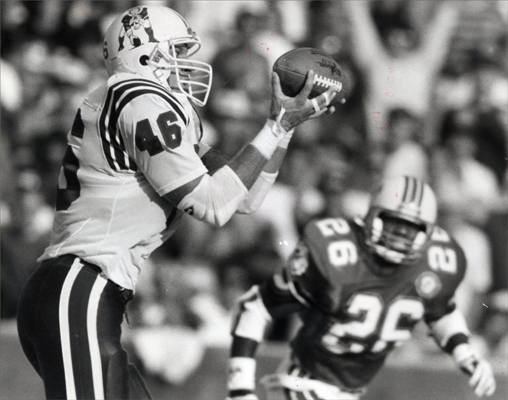 Marv Cook Years: 1989-1993 Stats: In five seasons with the Patriots, Cook caught 210 passes for 1,843 yards. He also scored 11 touchdowns for New England. Extras: He was named to the Pro Bowl in 1991, when he was fourth in NFL receptions with 83, and 1992.