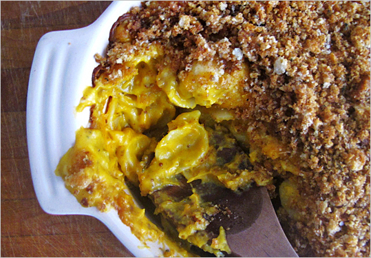 Pumpkin Macaroni and Cheese with Sage Breadcrumbs