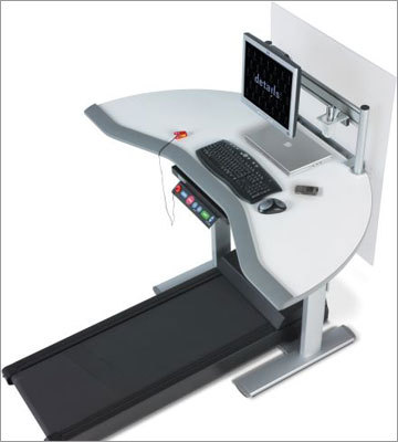 Walkstations by Steelcase Walkstations by Steelcase, which range from $3,500 and $4,500 -- roughly double the price of a regular height-adjustable workstation -- is what blog Engadget describes as the Rolls Royce of integrated workstations.