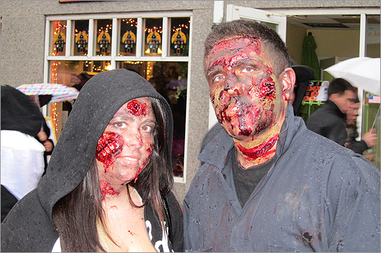 Val and Devin Machado, of Taunton, got into the Halloween spirit.