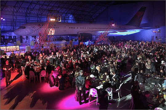 Oct. 29 in Boston More than 700 guests attended the Institute of Contemporary Art's 75th anniversary dinner held in a Delta Airlines hangar at Logan Airport. For more on these photos visit www.billbrett.com