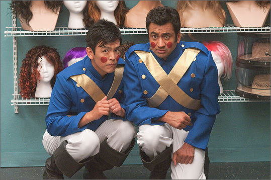 John Cho, as Harold, and Kal Penn, as Kumar, stumble through Christmas on a ragged road to adulthood.