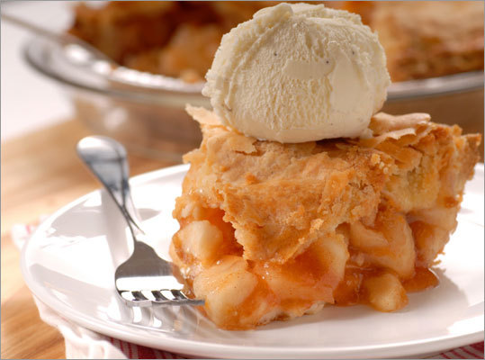 Instead of eating the traditional apple pie topped with ½ cup of creamy vanilla ice cream, consider topping off your holiday apple pie with the same amount of low fat vanilla ice cream. Calories saved: 160