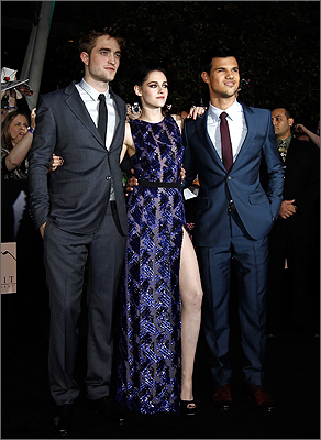 Kristen Stewart, Taylor Lautner, and Robert Pattinson