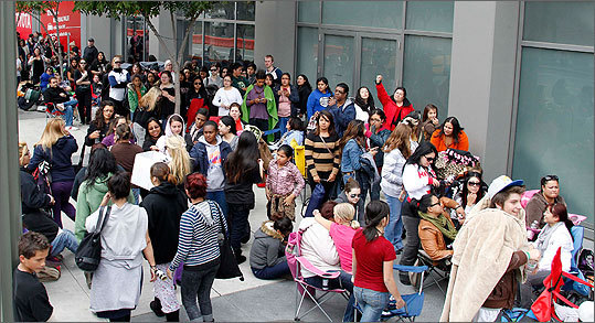 Los Angeles Fans lined up to register to camp out on Nov. 10, five days before the movie's premiere.
