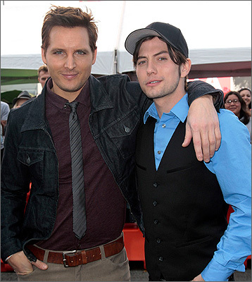 Peter Facinelli and Jackson Rathbone