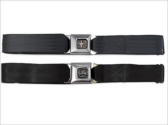 Seat buckle belt Price: $20 For those health (and safety) conscious friends of yours, these belts were made from old seat belts. With these, they can now safely keep their pants from falling down.