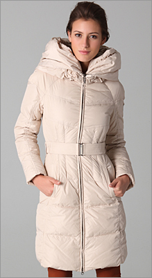 Nylon Glossy Icon Puffer Coat by Add Down
