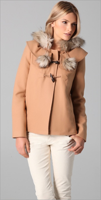 Juicy Couture pom pom coat