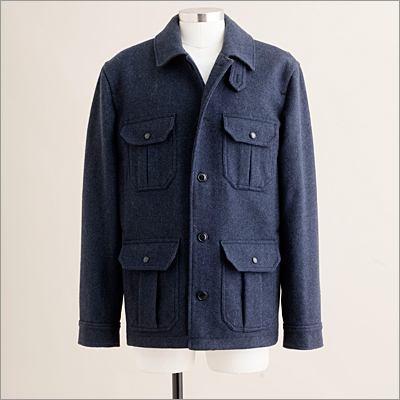 A cozy coat for layering with enough wool to also be worn on its own. Irvine jacket in admiral blue, JCrew.com and in store, $258.