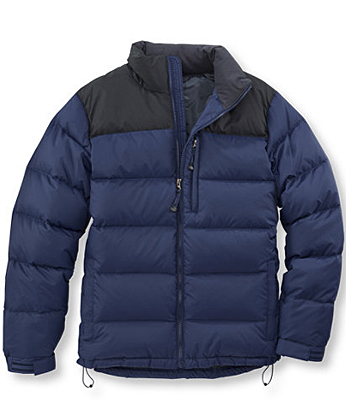 Elasticized cuffs and hemline keep the 650-goose-down-fill warmth on the inside. Goose down jacket in dark royal blue, LLBean.com , $79.