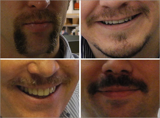 Several staffers here at Boston.com who once were clean-shaven grew mustaches in honor of the Movember campaign dedicated to raising awareness of men's health issues. We've rounded up these brave souls' photos and are asking you to tell us if love their new facial hair, or if they should shave it. Editor's note: While some participants have already shaved their mustaches, their vote results may help to sway them to grow another...