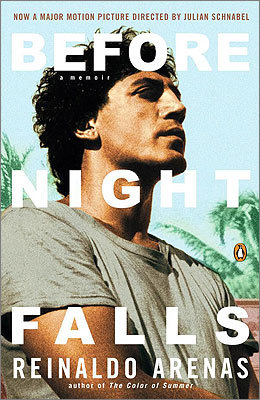 "Before Night Falls: A Memoir Written by: Reinaldo Arenas Recommended by: Reuben Reynolds, musical director, Boston Gay Men's Chorus 'Reinaldo Arenas narrates his life from growing up in rural Cuba to his oppression as a dissident writer and homosexual and on to ending his own life as an exile in New York rather than succumbing to AIDS. It is a story of growing up in a land where there is no diversity – if you are different you are an enemy of the state and are persecuted, even thrown in jail. In December 'we will be singing ""Navidad"" by composer Leop"