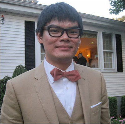 Before Here's the stylish Clinton Wong, a Web analyst for Boston.com. We think his before is pretty great, but maybe you'll like the after even more...