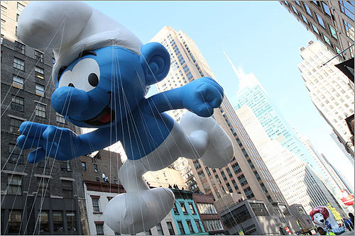 As did the Smurf balloon.