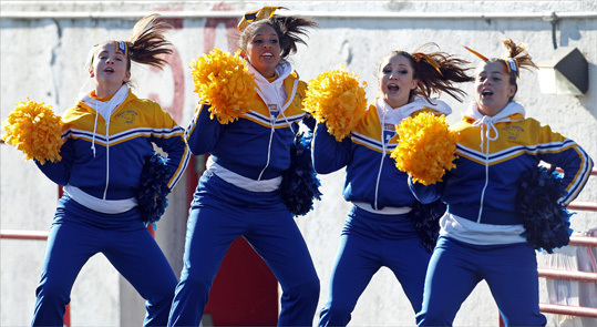 East Boston cheerleaders supported their team against South Boston.