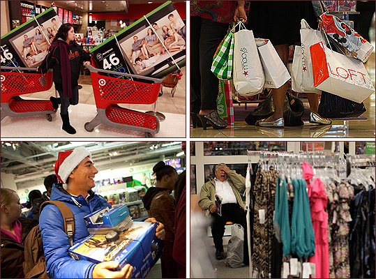 As Black Friday descended on 2011, shoppers from around the country flocked to retail outlets to take advantage of blockbuster deals that claim to save consumers considerable amounts of money. Here are some of the chaotic shopping scenes captured from around the country.