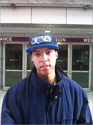 Jaren Smith, 20, of Dorchester, said he was mad that it looked like there wasn't going to be an NBA season this year, but isn't sure how big a deal the abbreviated season will be. 'It's still all about the playoffs,' Smith said. 'That's when you get down to serious basketball.' Smith sported an Orlando Magic hat, but said he was a fan of basketball in general. He wasn't ready to make any predictions about who might win the championship trophy yet, though. 'We need a chance to see the players first, to see what they've been doing with their time off.'