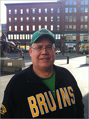 Art Johnson, of Walpole, N.H., clearly a Bruins fan, said he had found the lockout and its issues hard to follow. 'When they were talking about 50 percent versus 52 percent, they're still talking about millions of dollars,' Johnson said. 'And if they had stayed out all year, it really wouldn't have made a lot of difference, because there's college basketball, which is more exciting.