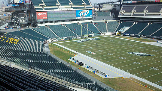 Lincoln Financial Field in Philadelphia was quiet Sunday afternoon. But the Patriots vs. Eagles changed all that.
