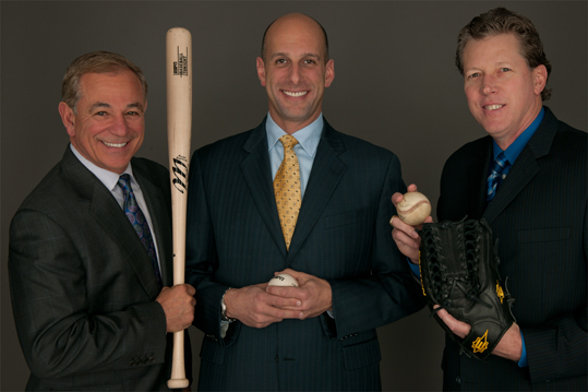 Valentine returned to his home state of Connecticut to work for ESPN and the former manager (left) has served in the studio for Sunday Night Baseball alongside Dan Shulman (center) and Oral Hershiser (right). Valentine, 61, has reportedly been interviewed for several manager jobs in recent years, including the Orioles, Marlins, and Brewers.