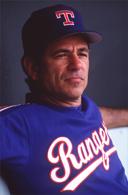 In 1985, Valentine was third base coach for the New York Mets when the Texas Rangers hired him 32 games into the season to be their manager. At the time, he was 35, the youngest manager in the majors. The next year, the Rangers finished second, as did Valentine in manager of the year voting. But he wasn't able to replicate that success, and was fired early in the 1992 season when the team finished fourth.