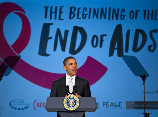 President Obama made remarks on World AIDS Day at George Washington University in Washington.
