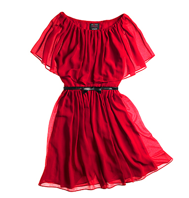 Dance the night away in this easy-breezy on-or-off-shoulder number. Ruffle overlay dress by Giambattista Valli for Impuse in Carmen red, Macys.com and in stores, $99.