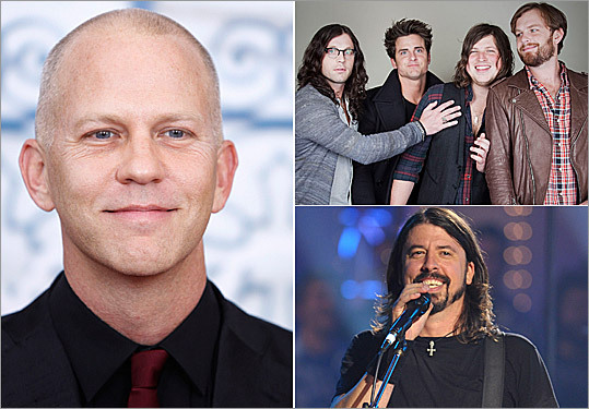 "Unlike Hyland, these rockers didn't apologize for ruffling some 'Glee' feathers -- instead they waited for apologies to come to them. Creator Ryan Murphy (left) had some choice words to say in The Hollywood Reporter 's January cover issue about Kings of Leon (top right) and the band's refusal to have their music featured on the show. The feud escalated to the point where Foo Fighters front man David Grohl (bottom right) stepped in, giving the publication a message for Murphy: 'Dude, maybe not everyone loves Glee. Me included."" Murphy returned to comment , 'I didn't speak with as much clarity as I would have liked.' As for the Kings? 'I'll just be glad when I can check my Google alerts and don't have to read anything about us and Glee,' drummer Nathan Followill told RollingStone.com ."