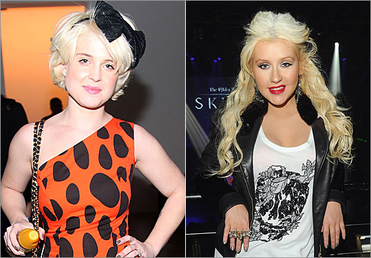 Kelly Osbourne and Christina Aguilera