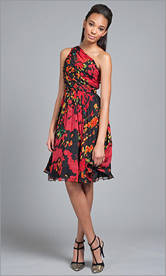 Tracy Reese One-Shoulder Frock