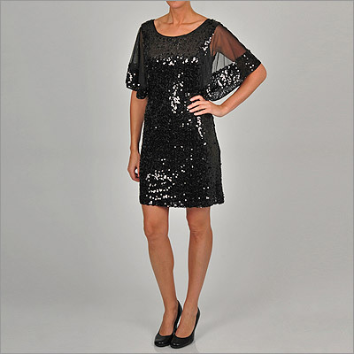 Sequined dress with sleeves by Ignite