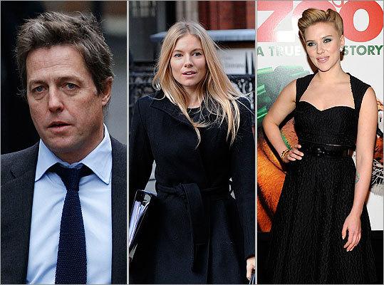 Hugh Grant, Sienna Miller, Scarlett Johansson