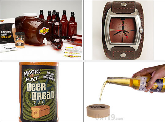 Shopping for someone whose holiday list consists of bottles of beer, some useless knickknacks, or a necktie? Mix it up this year. Here are some unique gifts for the beer drinker on your holiday shopping list. Some gifts are funny, some edible, some useful, and others downright inspiring.