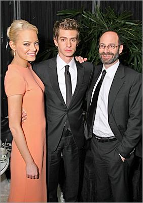 Andrew Garfield in Emporio Armani and Emma Stone in Calvin Klein