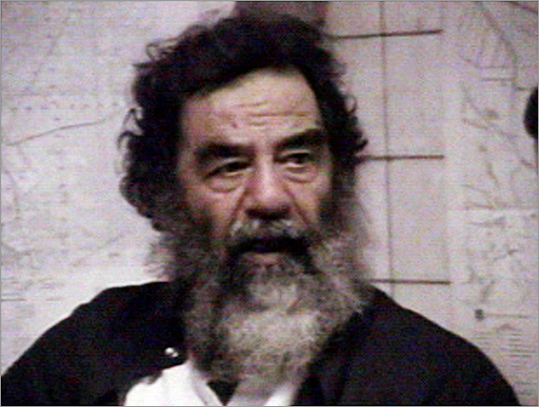 Later that year, Saddam Hussein himself was toppled. On Dec. 14, 2003, he was captured in a raid by US forces backed by Kurdish fighters in his northern hometown of Tikrit.